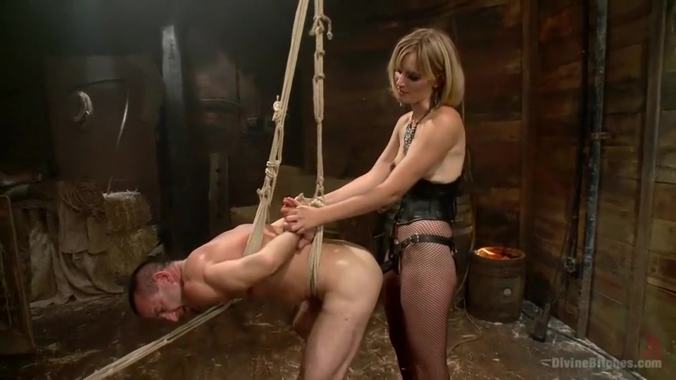 Bitch Boy in a Barn: Lifestyle Dominatrix Abuses and Fucks Slave Boy