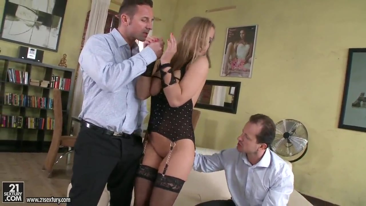 Hot and awesome whore Colette W. having some fun with two guys