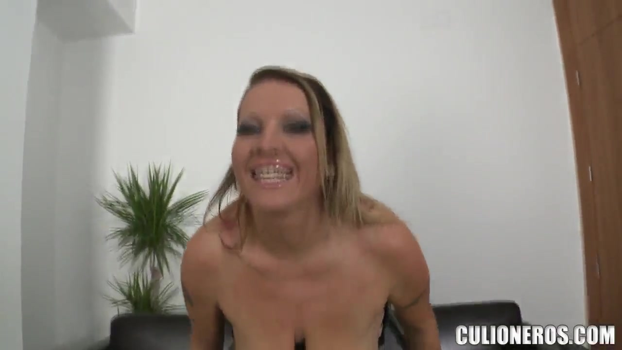 Extremely busty Laura and her first naked appearance on the camera