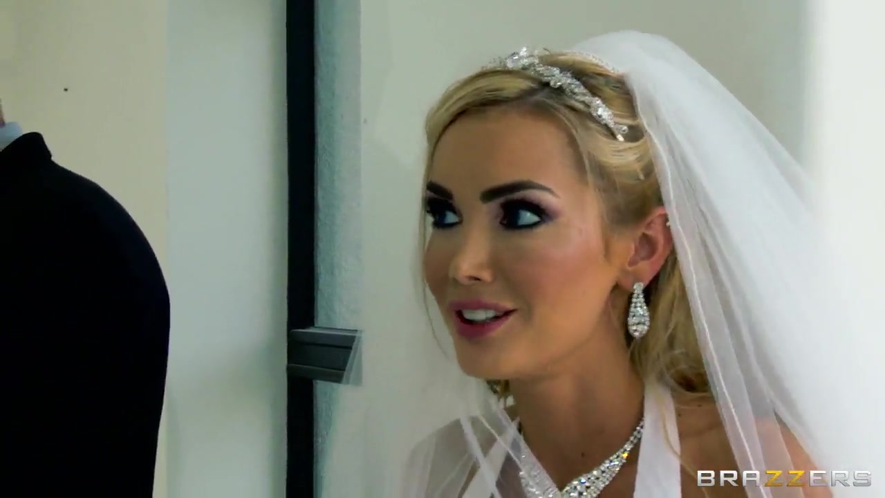 Defiant blonde Devon seduces her husband at the marriage