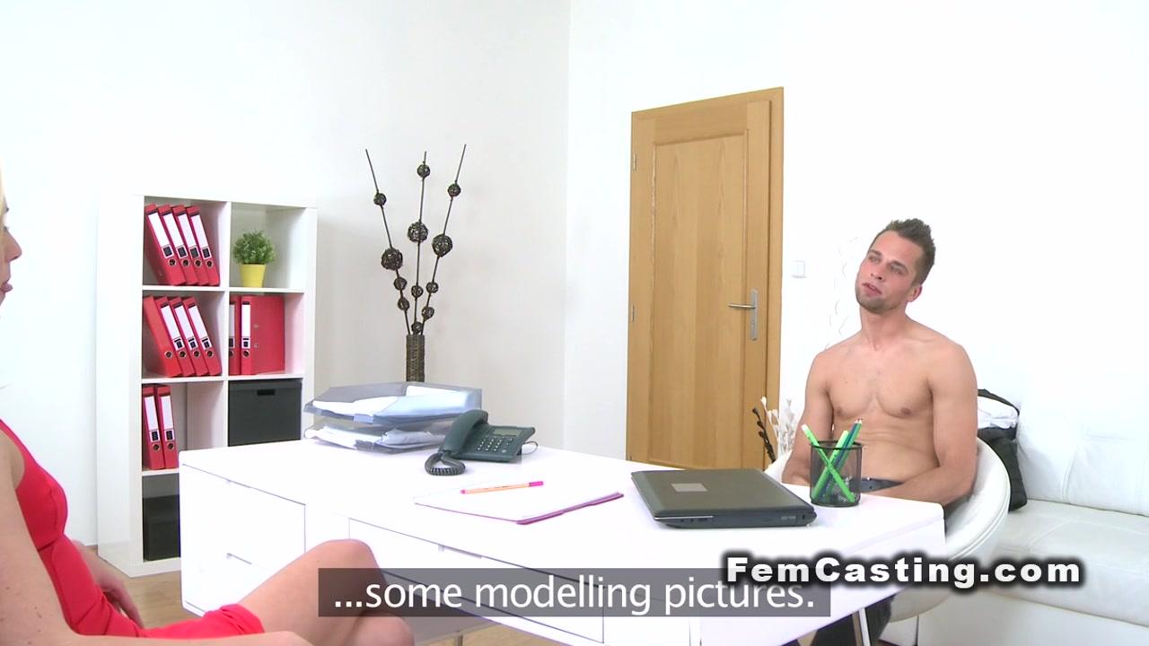 Shy dude licks and fucks female agent